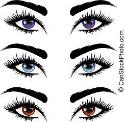 yeux, cils, long