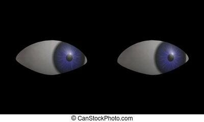 yeux, looking., hd, cg.