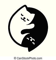 yin, chats, yang
