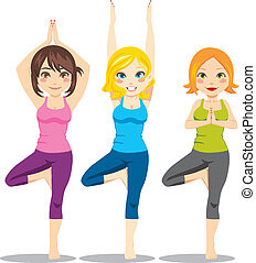 yoga, femmes