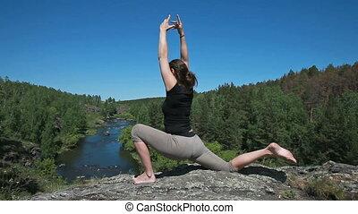 yoga, nature