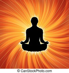 yoga, puissance, -, eps, meditation., 8