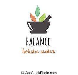 yoga, wellness, -, aquarelle, médecine, vecteur, icône, logo, alternative