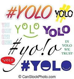 yolo, symboles, ensemble