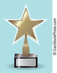 ytophy, étoile, bronze, récompense