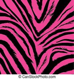 zebra, fond, -, fourrure