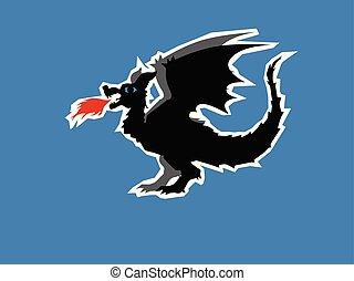 zine, conte, motives, style., histoire, dragon, mith, héroïque, légende, fée, aventures