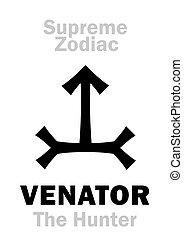 zodiac:, =, suprême, orion, venator, (the, astrology:, hunter)