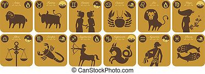 zodiaque, moderne, signes