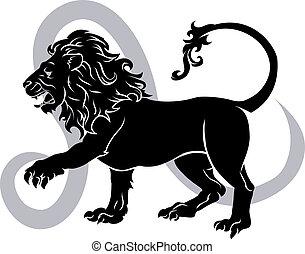 zodiaque, signe horoscope, lion, astrologie