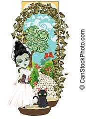 zombi, jardin, top secret, girl