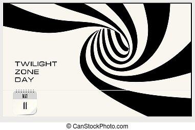 zone, crépuscule, carte postale, jour