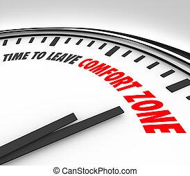 zone, horloge, horizons, confort, ton, congé, temps, grandir, augmenter
