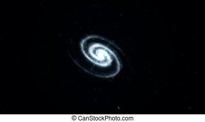 zoom, galaxie, espace