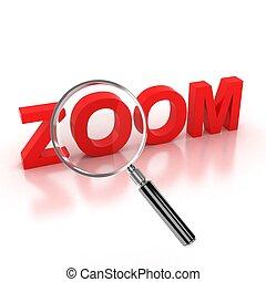 zoom, icône, -